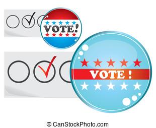 Election badges - Set of badges for USA or other election...