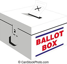 Election box - ballot box. Vector illustration eps 10