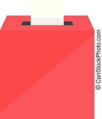 Election box icon, flat style