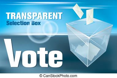 election box - ballot box