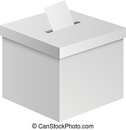 Election box mockup, realistic style