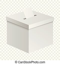Election box mockup, realistic style