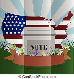 Election box USA vector
