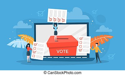 Election campaign. People vote for the candidate