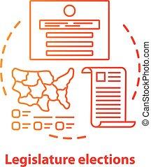 Election concept icon. Legislature elections idea thin line ...