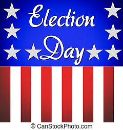 Election day banner illustration