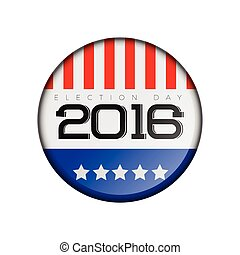 Election day - Isolated american election day label, Vector ...