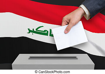 Election in Iraq - voting at the ballot box