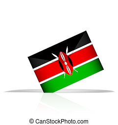 Election in Kenya - Illustration showing an election in...