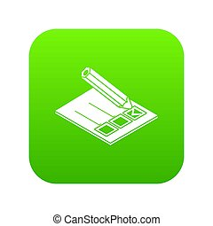 Election paper icon green