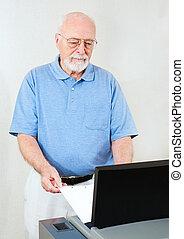 Election Senior Man Votes