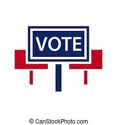 Election topic icon - Vector illustration of agitation...