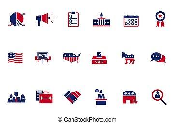 Election topic icon - Vector illustration of politics, ...