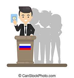 election., votación, gente