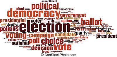 Election word cloud concept. Vector illustration