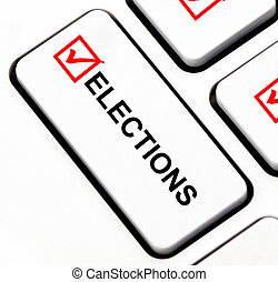 Elections button on keyboard