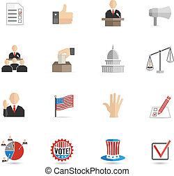Elections icons flat set