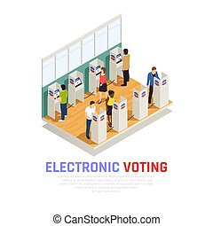 Elections Isometric Composition