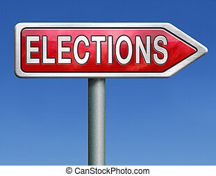 elections road sign arrow