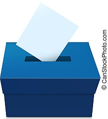 Elections Vote Box template with voting paper