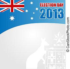 electoin, australiano, giorno, fondo