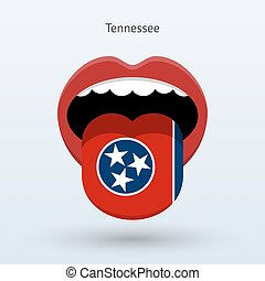 Electoral vote of Tennessee. Abstract mouth. Vector...