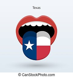 Electoral vote of Texas. Abstract mouth. Vector...