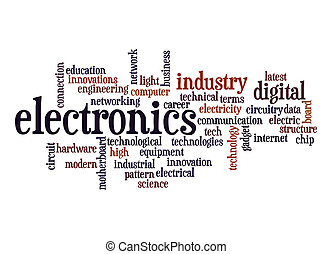 electrónica, palabra, nube