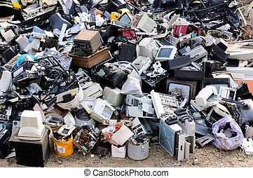 electrónico, desperdicio