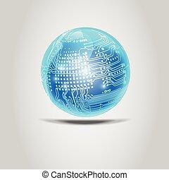 electrónico, pelota