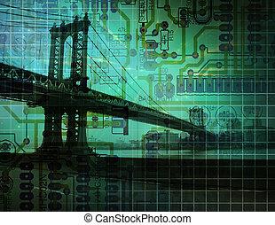 electrónico, puente