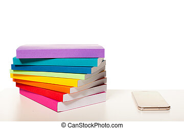 electrónico, tabla, smartphone, biblioteca
