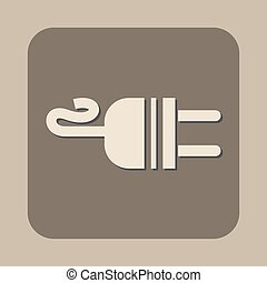 electric ac power plug vector icon