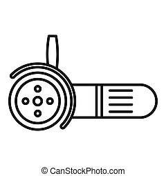 Electric angle grinder icon, outline style
