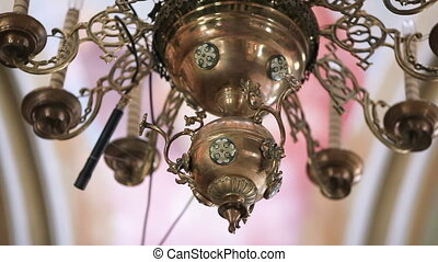 Electric antique chandelier