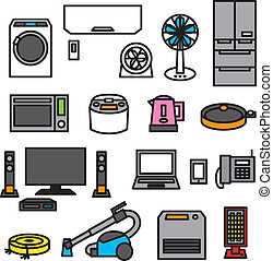 electric appliances 01 - electric appliances, vector file