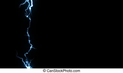 Electric Arc moving across Screen. - Electric Arc moving...