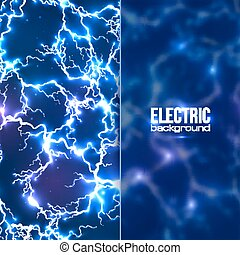Electric background with plastic transparent banner - Vector...