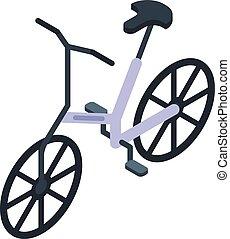 Electric bicycle icon, isometric style