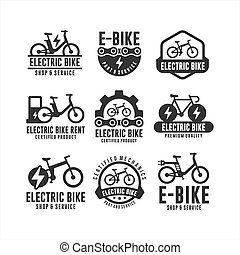 Electric Bike shop and service logos