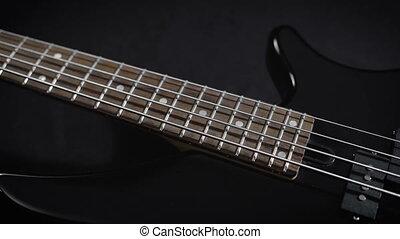 Electric Black Bass Guitar