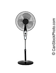Electric black fan isolated on white background
