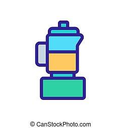 electric blender icon vector outline illustration