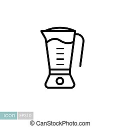 Electric blender vector icon. Kitchen appliance