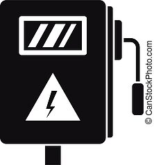 Electric box icon, simple style
