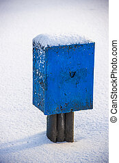 electric box in snow