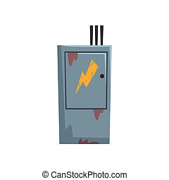 Electric Breaker Fuse Box, , Electrical Equipment Vector ...