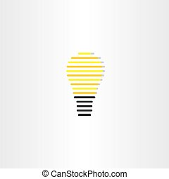 electric bulb icon stylized vector design