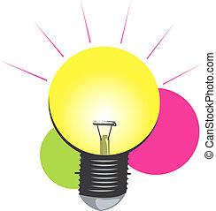 Electric bulb ignited - Illustration of a Electric bulb...