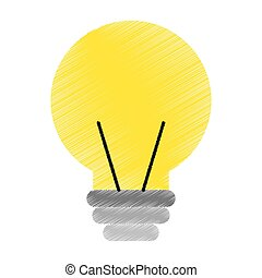 electric bulb isolated icon vector illustration design